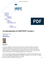 An Introduction to OSSTMM Version 3