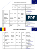 Clusters and Poles of Competitiveness -ROMANIA_aug