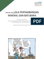 Tata Kelola Pertambangan Mineral Dan Batubara