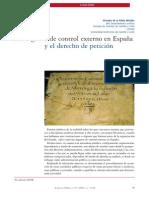 PRIETA MIRALLES, Virtudes de la. Los órganos de control externo en España y el derecho de petición.