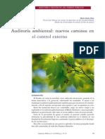 SILVA, Marta Varela. Auditoría ambiental - nuevos caminos en el control externo.