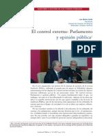 MUÑOZ GARDE, Luis. El control externo - Parlamento e opinión pública.