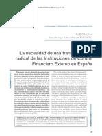 ORDOKI URDAZI, Luis. La necessidad de una transformación radical de las Instituciones de Control Financiero Externo en España