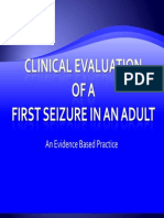 Clinical Evaluation of a 1st Seizure 1