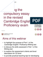 Cpe Compulsory Essay Slides
