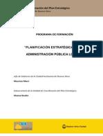 """Programa de formación """"Planificación estratégica en la administración pública local"""""""
