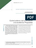 ÁLVAREZ MARTÍN, Juan Antonio. Control externo - de la simulación a la excelencia.