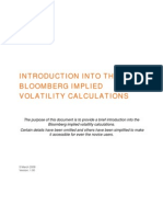 Bloomberg Implied Volatility Method 2008 New