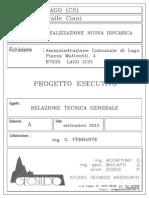 Progetto discarica Cozzo Giani Lago Cs RelazioneTecnica Generale
