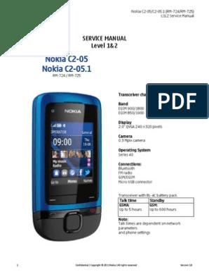Nokia C2-05 RM-724 725 Service Manual | Electrostatic