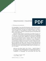 Tematología y transtextualidad