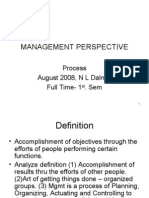 Management Perspective 1