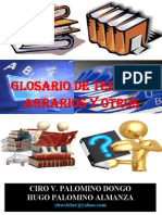 GLOSARIO DE TERMINOS AGRARIOS Y OTROS