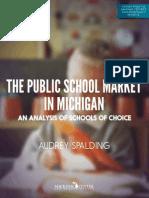 The Public School Market in Michigan