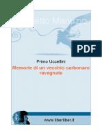 Memorie Di Un Vecchio Carbonaio Ravegnate- Uccellini