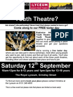 Youth Theatres Taster Day- Sept 09