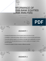 Performance of European Bank Equities (CASE ANALYSIS