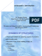 July 28 - Introduction to Structural Dynamics Dr. HW Huang