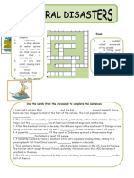 Environment & Natural Disasters - Crossword & Cloze Exercises