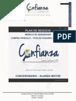 Plan de Negocios Invertir Confianza -Alianza Motor - Vehiculos