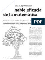 Irrazonable Eficacia de La Matematica