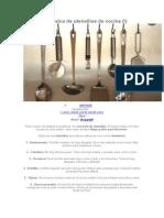 Guía básica de utensilios de cocina