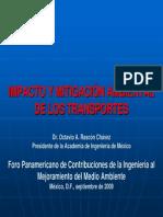 Impacto y Mitigacion Ambiental de Los Transportes