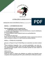 Alterações na regra do Futsal