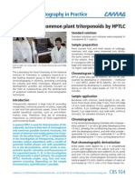 CBS104Separation of Common Plant Triterpenoids by HPTLC