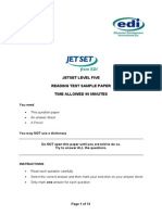 Jetset Level 5 Reading Sample