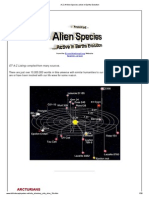 A-Z of Alien Species Active in Earths Evolutiona