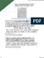 Analyse_ Ein Soldatenbrief Von 1915