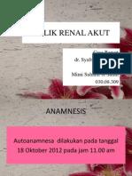 KOLIK RENAL Case