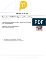Remember 911 - White Belligerency in the Academy
