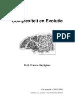 Cursus Complexiteit en Evolutie
