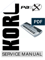 Korg Pa1X Service Manual
