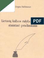 Lietuviu Kalbos Rasybos Mokymo Atmintine Pradinukams 1996