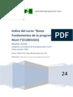 CU00102A Indice Curso Bases Programacion I Algoritmia Pseudocodigo