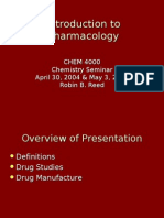 introduction to pharmacology Susan masters, phd 57 introduction to pharmacology (lecture) objectives • describe how the size, shape and chemical nature of a drug affects its.