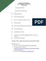 2009 UNCESOP PharmD Applicants Info Session Handouts