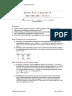 Soal UAS Matematika Teknik