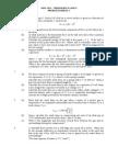Problem Sheet - Thermodynamics