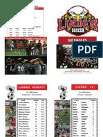 2009 Linden Eagles Soccer Program