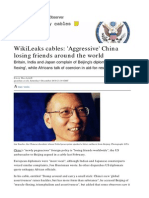 WikiLeaks Cables,Aggressive China Losing Friends Around the World