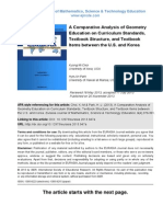 A Comparative Analysis of Geometry Education on Curriculum Standards, Textbook Structure, and Textbook Items between the U.S. and Korea
