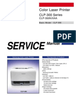 Samsung CLP 300 Series Service Manual