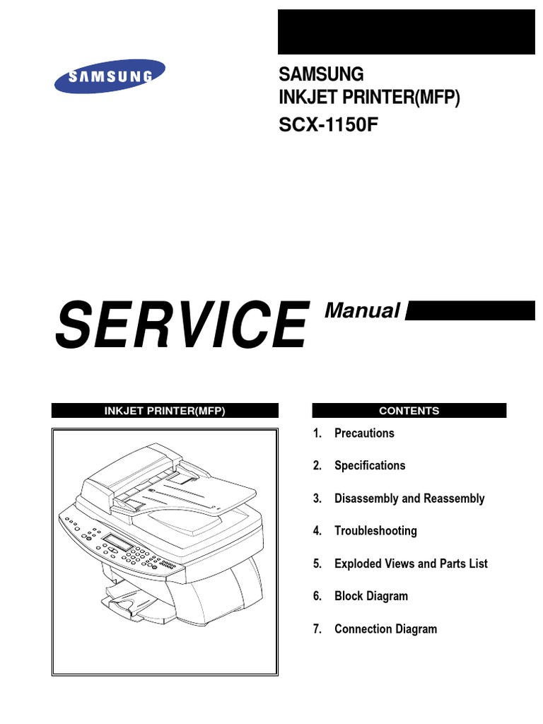 Samsung MFP SCX 1150F MFP Service Manual | Electrostatic Discharge |  Electrostatics