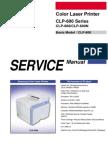 Samsung CLP 600 Series Service Manual
