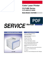 Samsung CLP 600 Series Service Manual