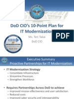 CIO 10 Point Plan for IT Modernization